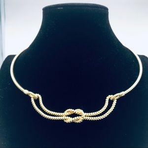 Talbots Necklace, Choker,gold tone Rope type links